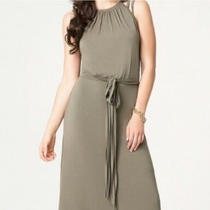 Army green maxi dress NWT Bebe